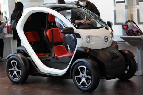 The Renault Twizy is a battery-powered two-passenger electric vehicle designed and marketed by Renault and manufactured entirely in Valladolid, Spain.